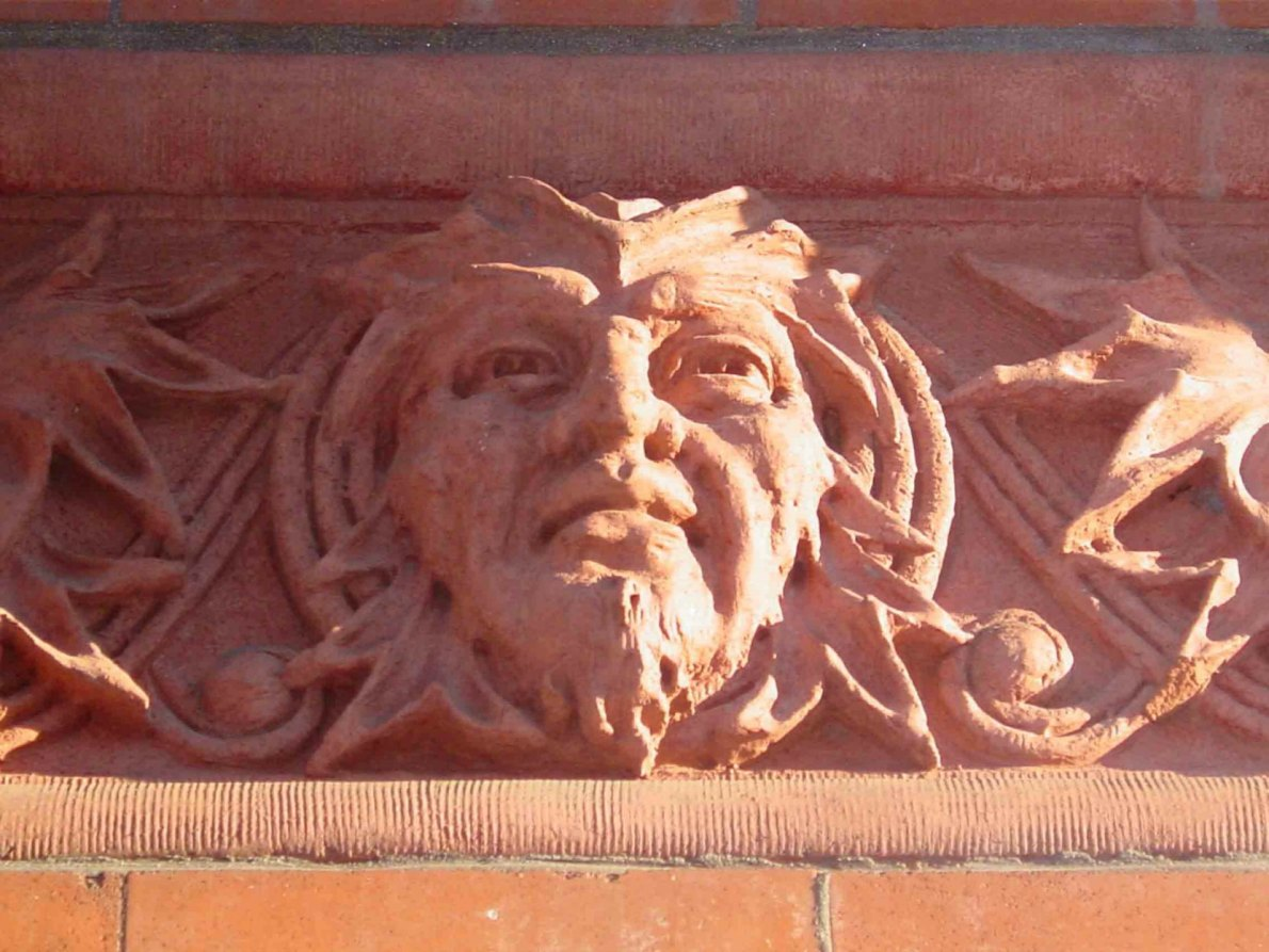 Decorative detail from the Temple Building, 525 Fort Street (photo by Victoria Online Sightseeing Tours)