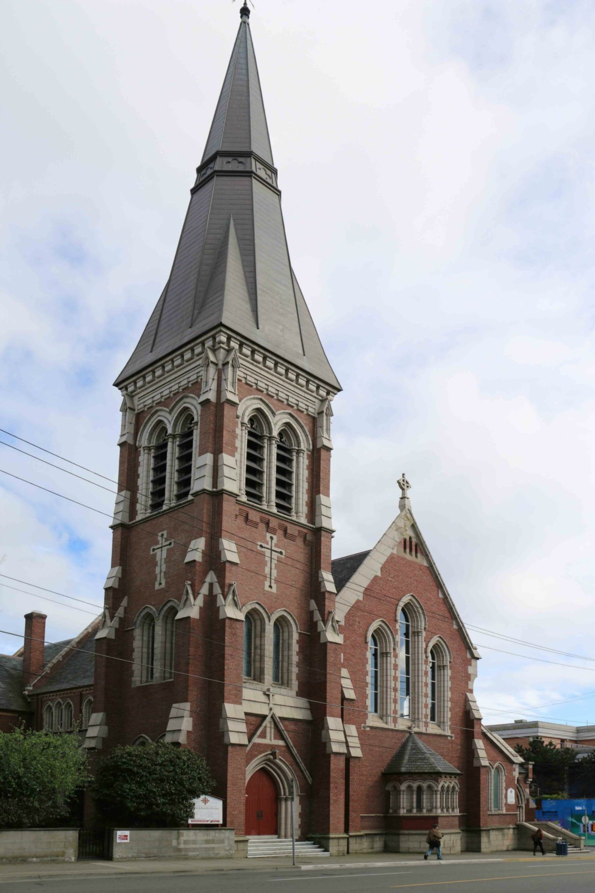 St. John the Divine Anglican Church, 1611 Quadra Street. Built in 1912 by architect William Ridgway Wilson for the Anglican Church of Canada.