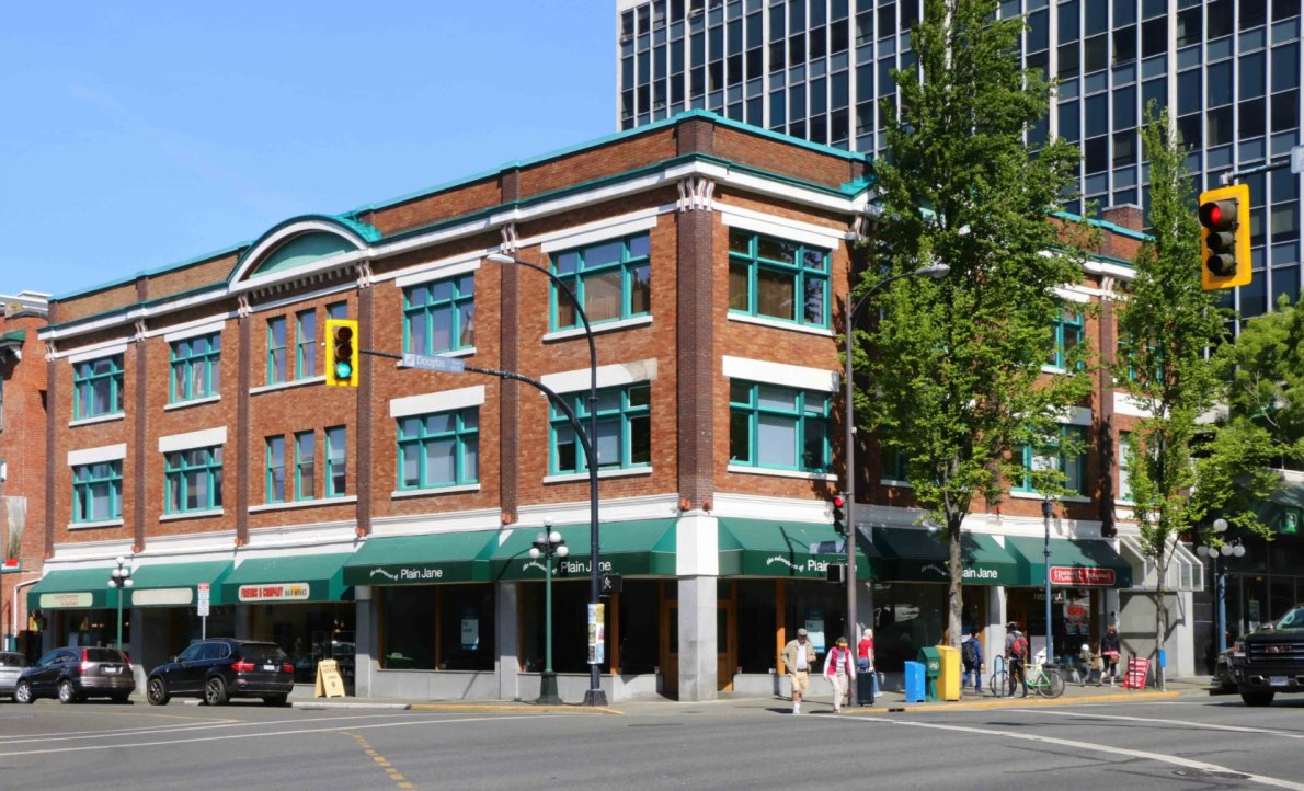 Weiler Building, 1000-1012 Douglas Street (photo by Victoria Online Sightseeing Tours)