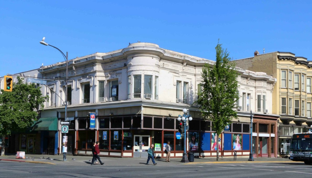 The Reynolds Block, 1300-1306 Douglas Street (photo by Victoria Online Sightseeing Tours)