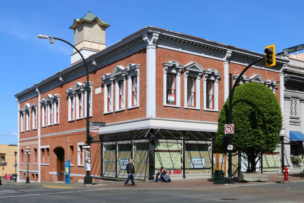 The Southgate-Laschelles Building, 1102 Government Street/530 Fort Street, built circa 1869 for J.J. Southgate and H.D. Laschelles (photo by Victoria Online Sightseeing Tours)