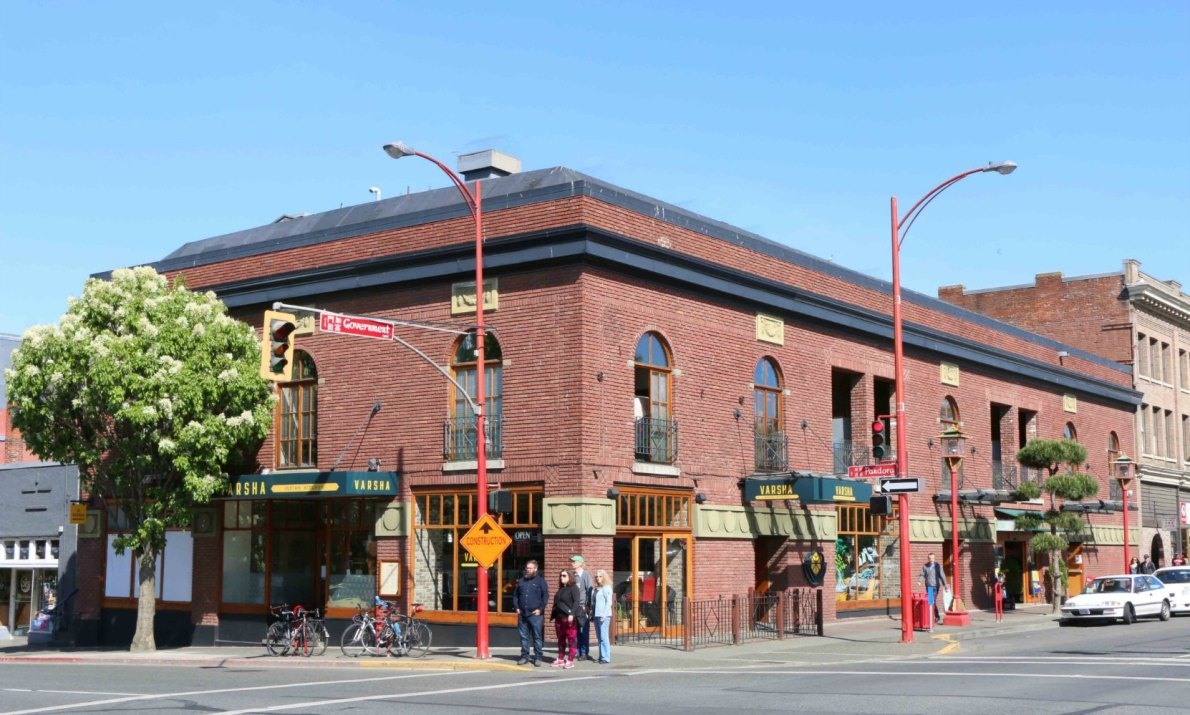 1600 Government Street, originally built in 1913 as the Kinemacolour Theatre. It is now residential and commercial condominiums. (photo by Victoria Online Sightseeing Tours)