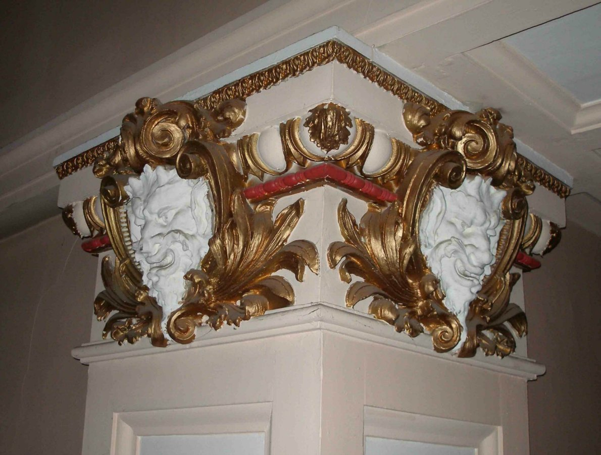 These Satyrs faces are original interior detailing in the McPherson Playhouse, 3 Centennial Square. This theate was built in 1914 by architect Jesse M.Warren and much of its original interior detail is still intact.