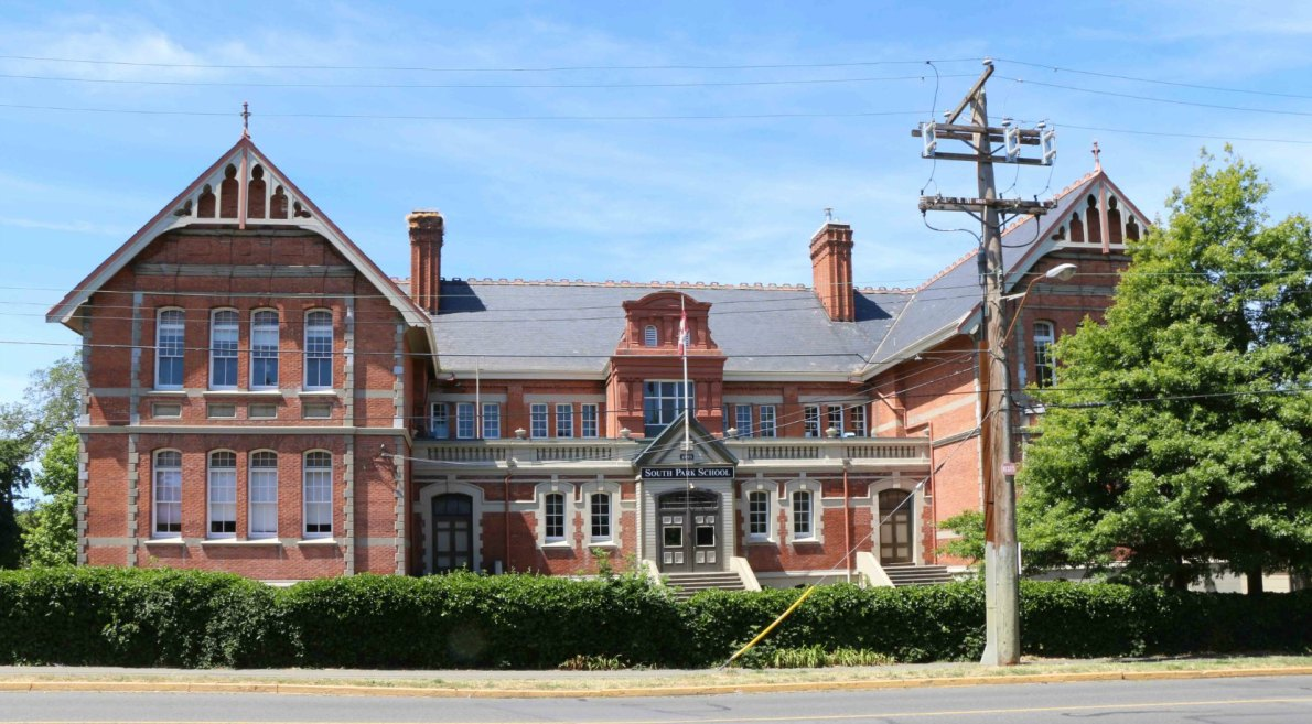 South Park School, built in 1894 by architect William Ridgway Wilson (photo by Victoria Online Sightseeing Tours)