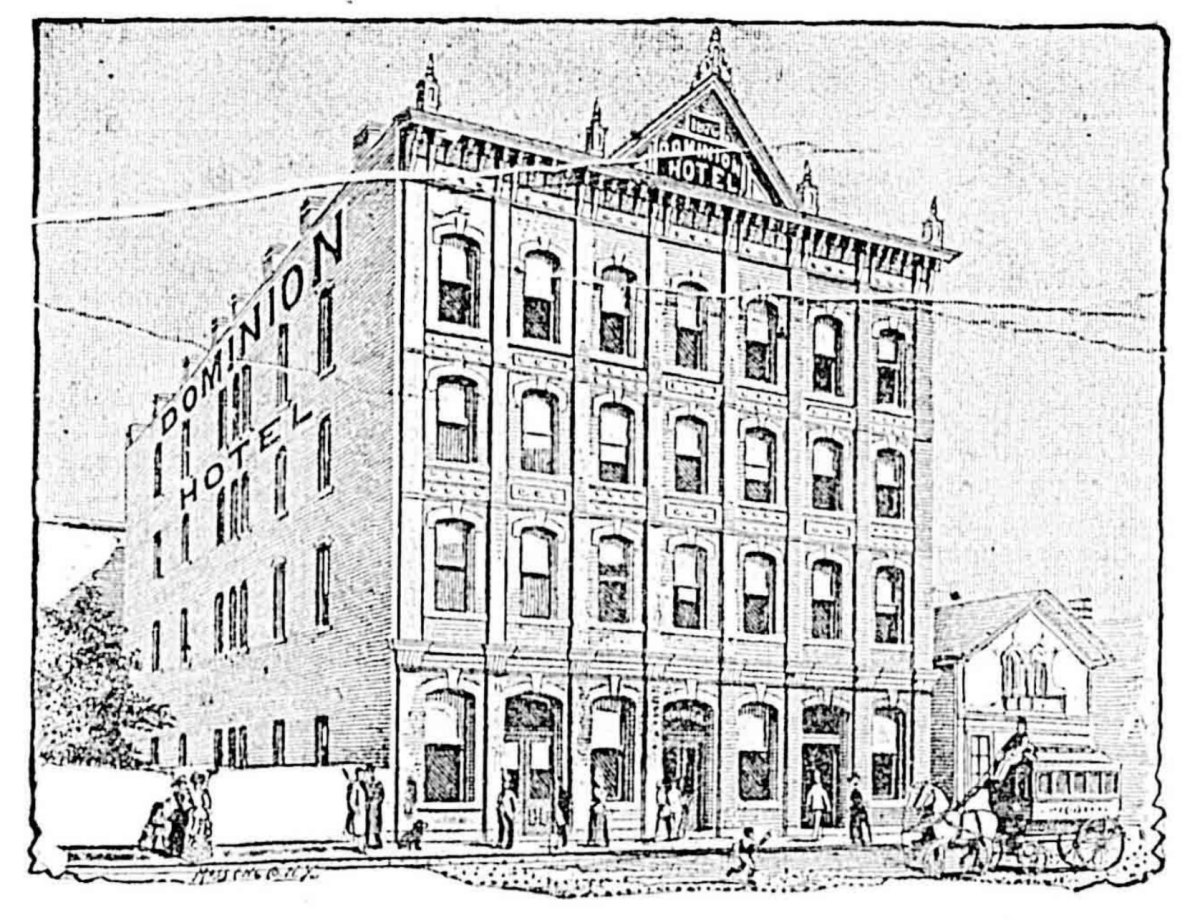 Dominion Hotel in 1893 (Victoria Online Sightseeing Tours collection)
