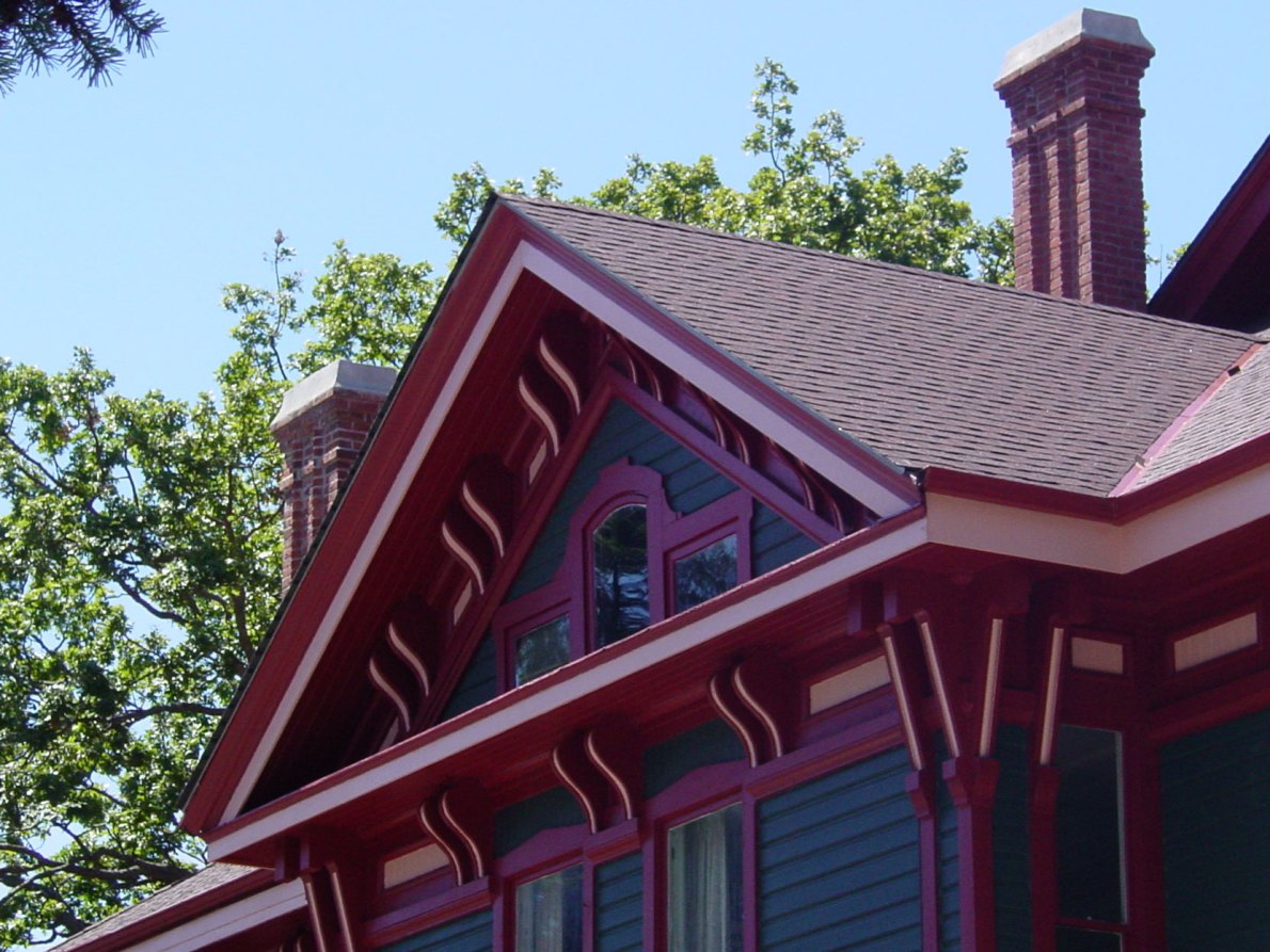 Architectural detail on the original 1888 section of 1040 Moss Street, now the Art Gallery of Greater Victoria (photo{ Victoria Online Sightseeing Tours)