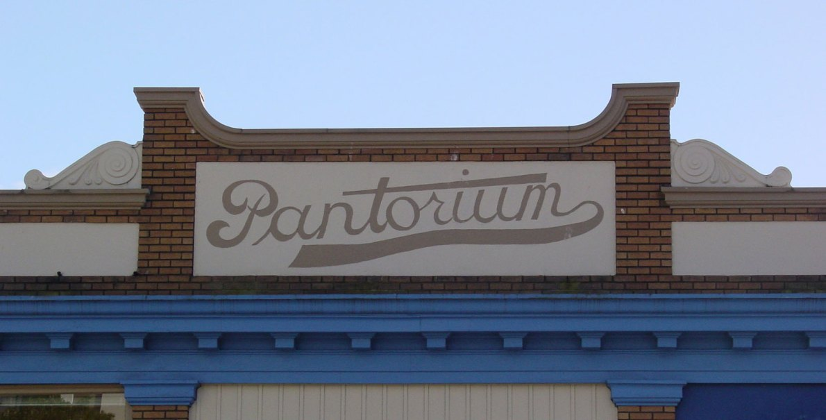 The original Pantorium sign is still visible on the front of 905 Fort Street (photo by Victoria Online Sightseeing)