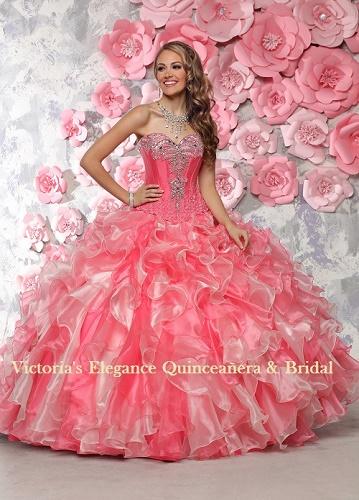 Two-Piece Gown Beaded Bodice DaVinci 80304 www.victoriaselegance.com