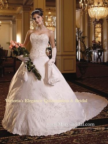 5753 Bridal Satin Beaded