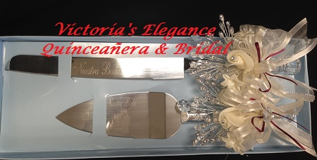www.victoriaselegance.com Cake/Knife Set Pala y Cuchillo