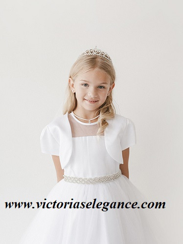 Tulle Dress w/Bolero @ www.victoriaselegance.com
