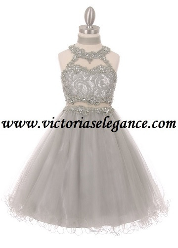 Style 5040 Shown in silver @ www.victoriaselegance.com