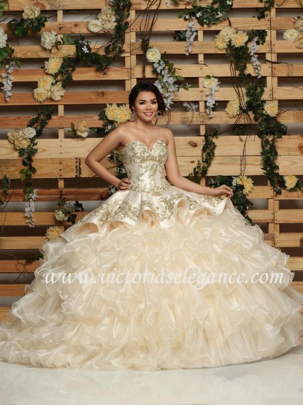 d0bac63cbf1 Satin Charro Ball Gown Two-Piece DaVinci 80411 – Victoria s Elegance ...