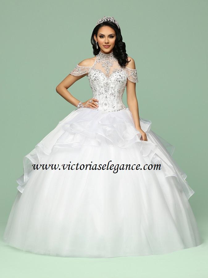 Davinci Halter High Neck Cold Shoulder Wedding Ball Gown Victoria S Elegance Quinceanera Bridal