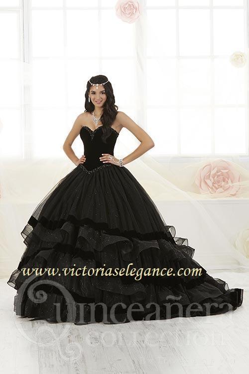 0555ac5b951 Glitter Tulle Velvet Ball Gown House of Wu 26907 – Victoria s ...