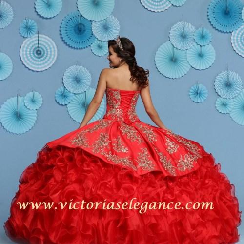 Ruffled Organza Ball Gown, Quinceanera Ball Gown, Da Vinci