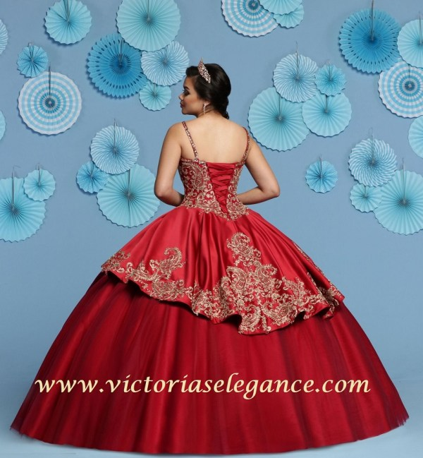6735c444bcd Satin   Tulle Ball Gown Q by DaVinci 80438 – Victoria s Elegance ...