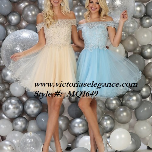 Short tulle off the shoulder dress, bridesmaid dress, dama's dress, prom gala pageant, sweet 16