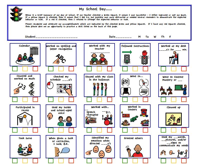 Daily Potty Training Chart
