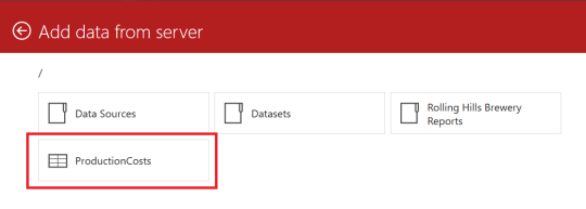 SQL Server Mobile Report Publisher - Add Data from server - ProductionCosts