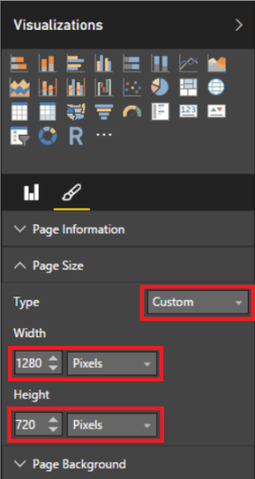 Change the Type to Custom to control the Width and Height