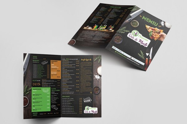 menu design dor de munte by victor sosea