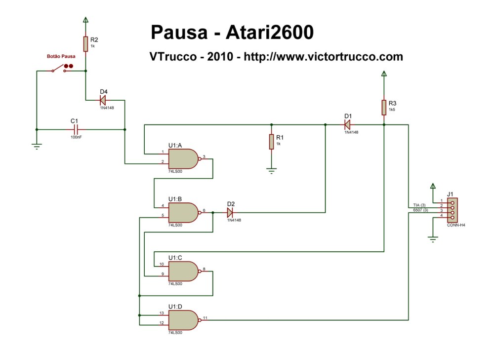 medium resolution of a pause button for the atari 2600 atari 2600 console atari 2600 wiring diagram