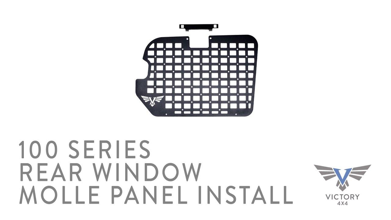 100 Series Land Cruiser Rear Window MOLLE Panel Install