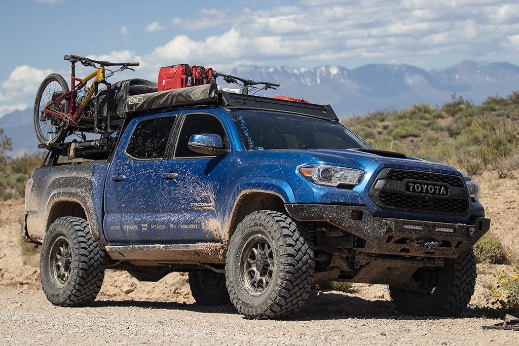 tacoma bed rack modular base mid size truck bed rack