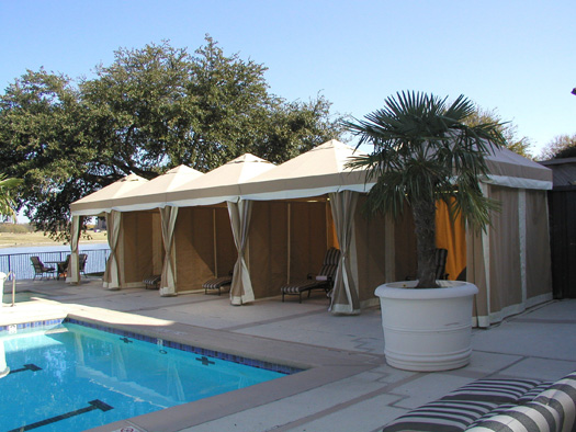 Awnings DallasFort Worth Cabanas By The Pool