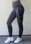 Power camo seamless leggings Grey