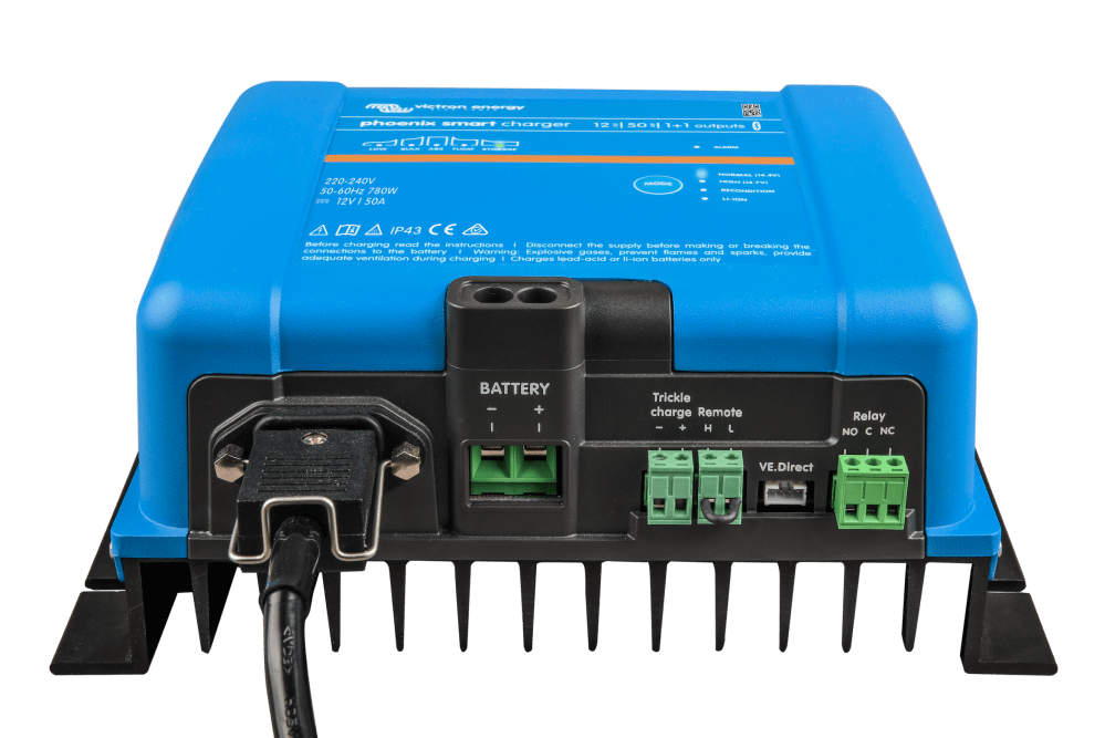 medium resolution of the phoenix smart charger is available for both 12v and 24v installations there are two 12v models one has a 30 amp output the other 50 amps for the