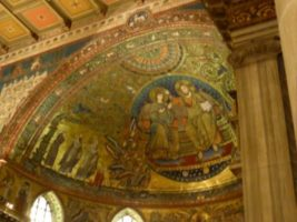 Detail of the frescoe immediately above the altar