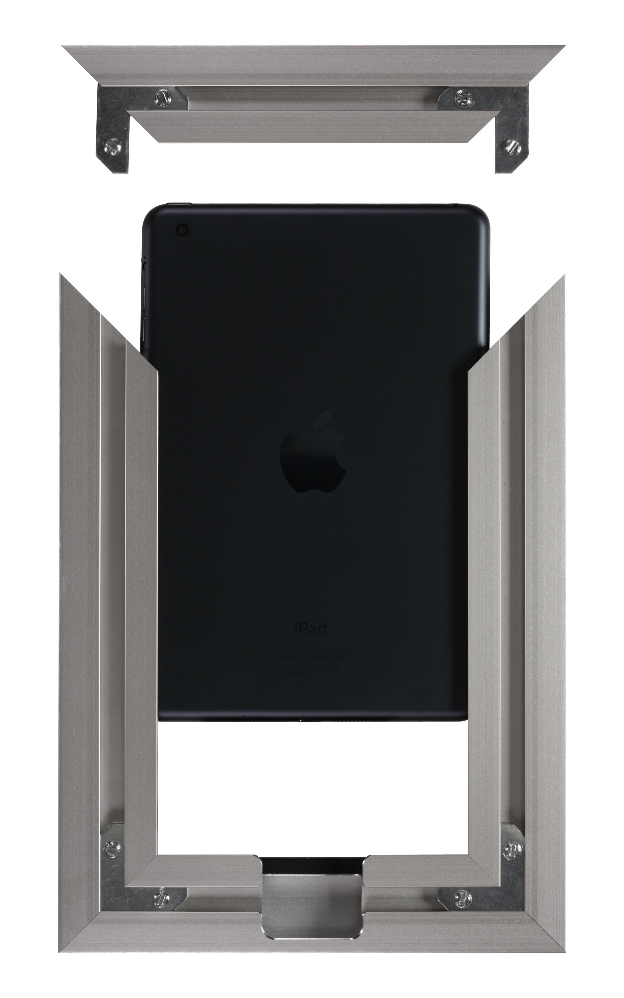 VidaMount Wall Frame  iPad Mini 4  5  Brushed German Silver