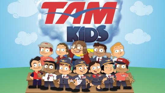 Entretenimento para crianças da TAM