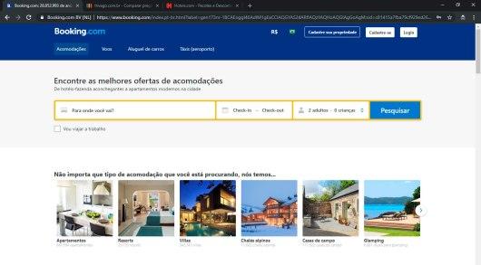 Sites de hotéis e pousadas
