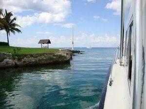 Passeio de barco em Cozumel - México