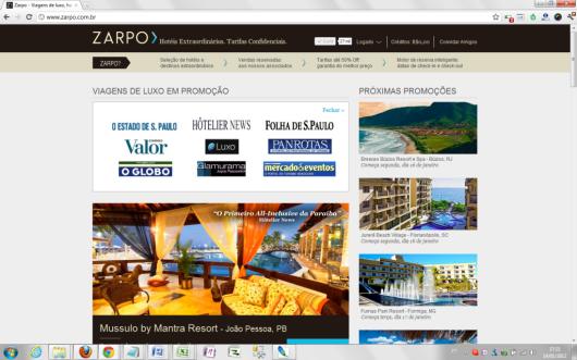 Clubes de viagens - Zarpo