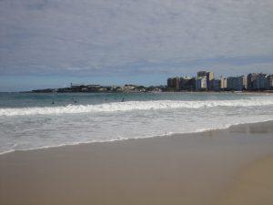 Mar da praia de Copacabana