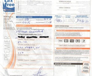 Cheque reembolso - Tax Free