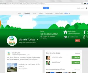 Página do Vida de Turista no Google Plus