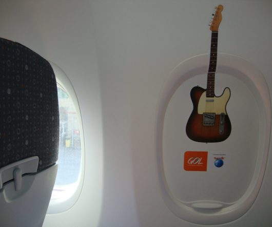 Aeronave estilizada da Gol - Rock in Rio 2013