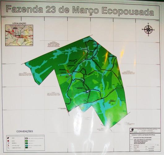 Mapa da Fazenda 23 de Março
