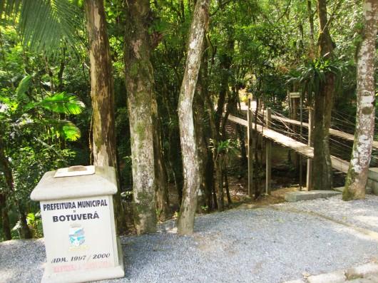 Ponte pênsil - Botuverá - SC