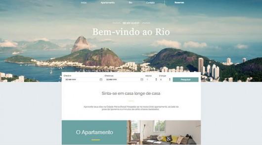 Template da Campanha #IssoéRio da Wix!