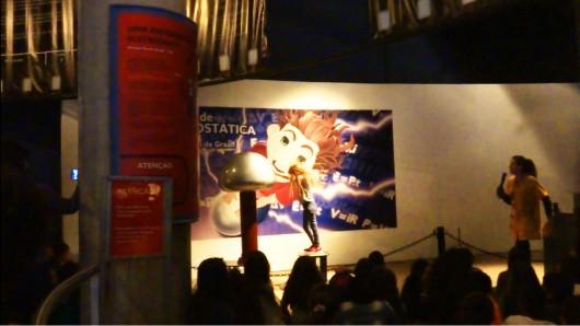 Apresentação eletrostática Museu da PUC-RS