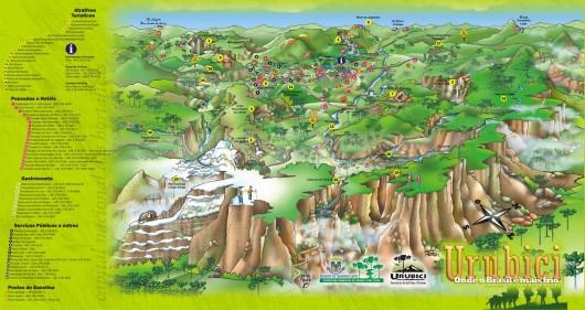 Mapa turístico de Urubici - SC