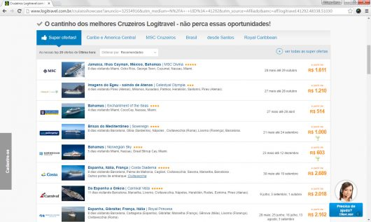 Cruzeiros em oferta LogiTravel