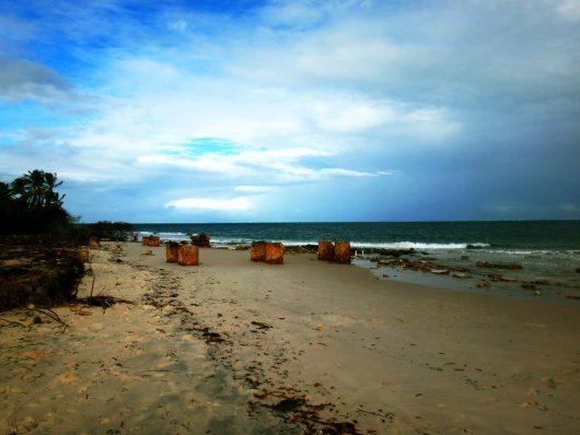 Ruínas Praia do Saco - Estância - SE