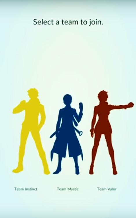 Pokémon GO - Seleção do time